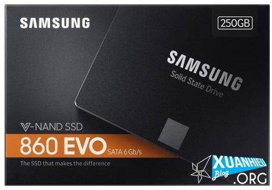 ssd samsung evo 860 sata iii 2018 xuan hieu 1 - SALE cực mạnh: SSD Samsung 860 Evo 250Gb bảo hành 5 năm 1 đổi 1