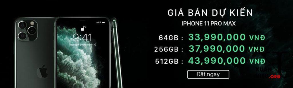 dat gach iphone 11 pro max gia ban viet nam 1024x308 - Đặt trước Iphone 11 Pro Max VN ở đâu Giảm giá Ưu đãi nhiều nhất