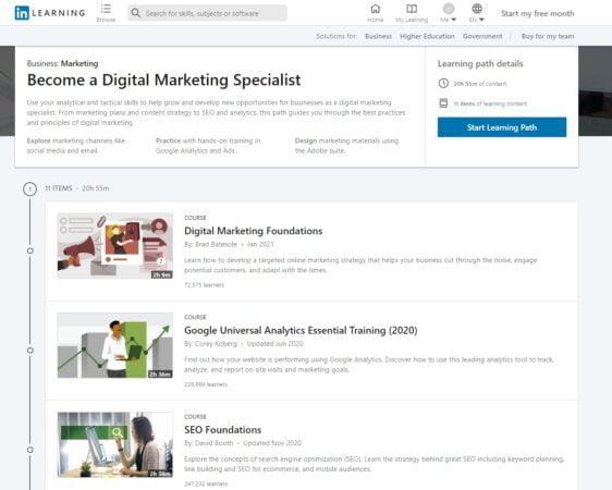 xuanhieu.org linkedin learning free digital marketing 562x450 - Linkedin đang free 100% học phí 10 ngành nghề Hot nhất - Thời gian giới hạn!
